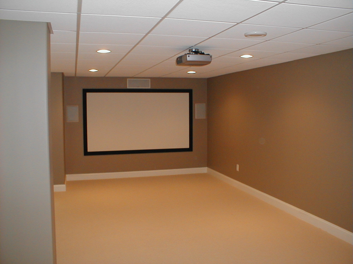 Basement Home Movie Theater Installation