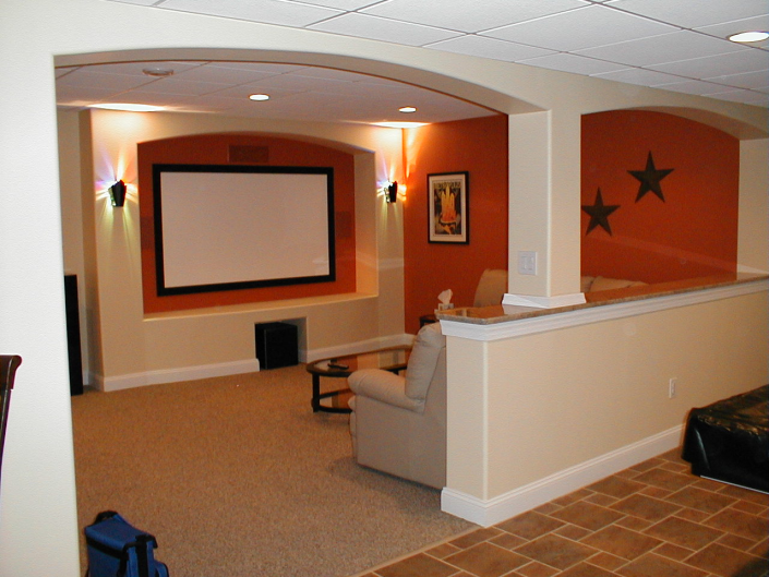 Basement Home Theater in Ardmore, Pa