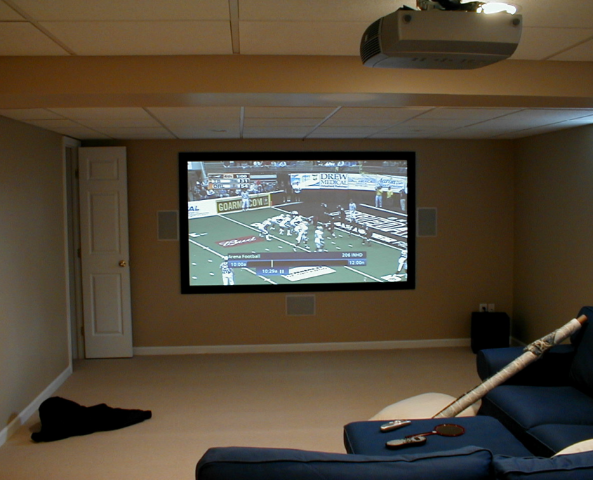 Basement Home Theater in Blue Bell, Pa