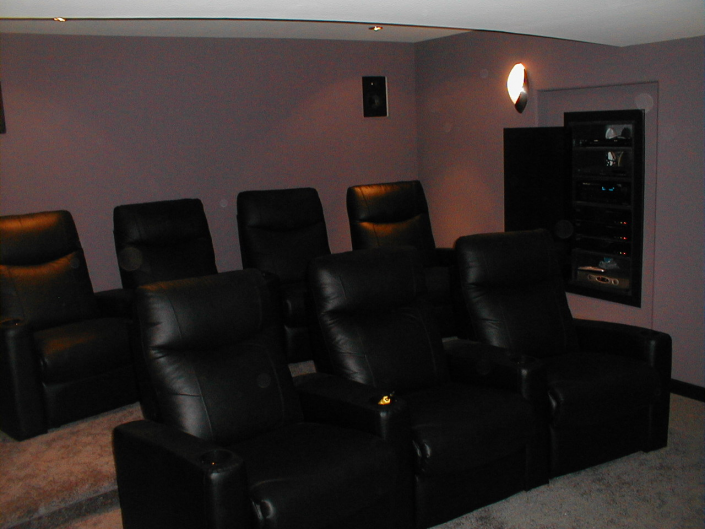 Basement Home Theater in Oaks, Pa