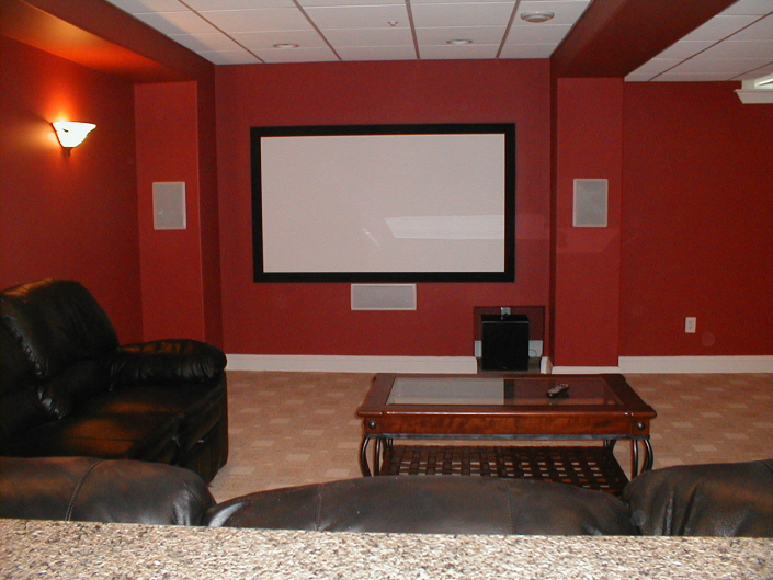 Custom Home Movie Theater Room Installation