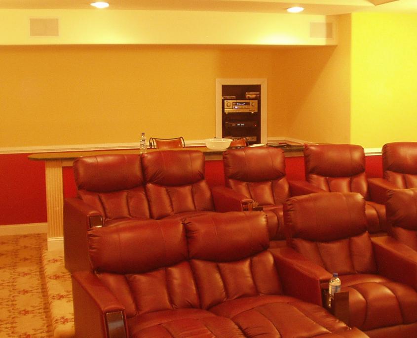 Custom Home Movie Theater in Gladwyne, Pa
