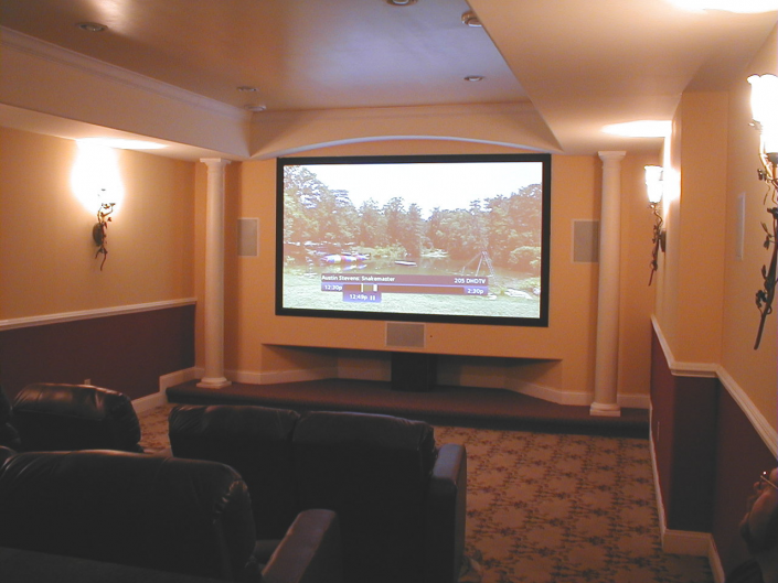 Custom Home Movie Theater in Gladwyne, Pa