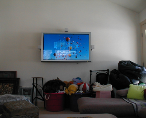 TV Wall Installation with Speakers