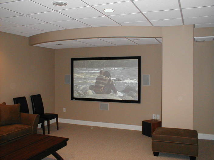 Wall Home Theater and Audio System