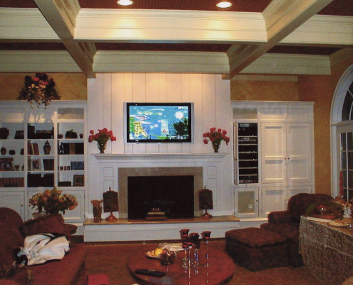 Wall Mounted TV in Luxury Home Gladwyne Pa
