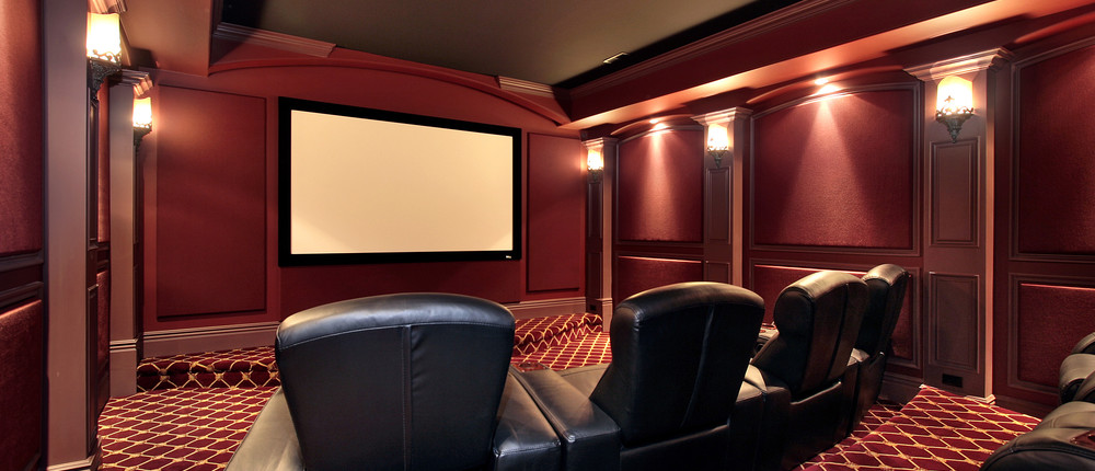 Home Theater in a Luxury Home
